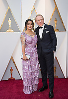 Salma Hayek Pinault and Fran&ccedil;ois-Henri Pinault arrive on the red carpet of The 90th Oscars&reg; at the Dolby&reg; Theatre in Hollywood, CA on Sunday, March 4, 2018.<br /> *Editorial Use Only*<br /> CAP/PLF/AMPAS<br /> Supplied by Capital Pictures