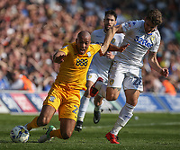 Preston North End's Alex John-Baptiste is fouled by Leeds United's Gaetano Berardi<br /> <br /> Photographer Alex Dodd/CameraSport<br /> <br /> The EFL Sky Bet Championship - Leeds United v Preston North End - Saturday 8th April 2017 - Elland Road - Leeds<br /> <br /> World Copyright &copy; 2017 CameraSport. All rights reserved. 43 Linden Ave. Countesthorpe. Leicester. England. LE8 5PG - Tel: +44 (0) 116 277 4147 - admin@camerasport.com - www.camerasport.com