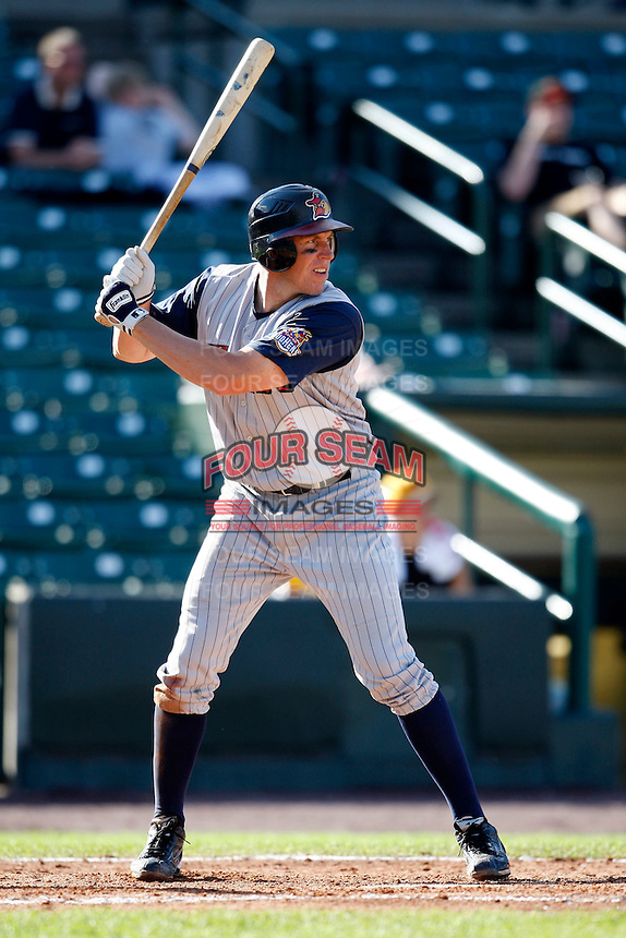 June 21, 2009:  Third Baseman Mike Hessman of the Toledo Mud Hens at bat during a game at Frontier Field in Rochester, NY.  The Toledo Mud Hens are the International League Triple-A affiliate of the Detroit Tigers.  Photo by:  Mike Janes/Four Seam Images