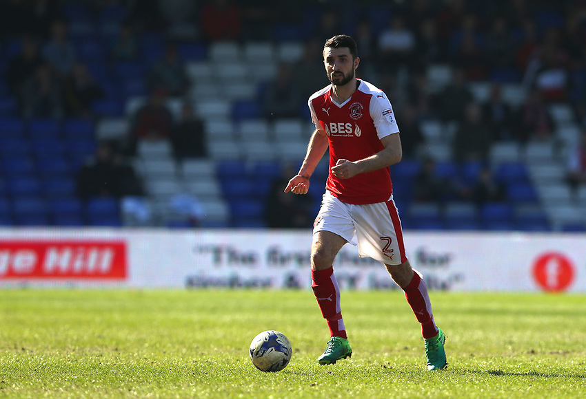 Fleetwood Town's Conor McLaughlin<br /> <br /> Photographer Stephen White/CameraSport<br /> <br /> The EFL Sky Bet League One - Oldham Athletic v Fleetwood Town - Saturday 8th April 2017 - SportsDirect.com Park - Oldham<br /> <br /> World Copyright &copy; 2017 CameraSport. All rights reserved. 43 Linden Ave. Countesthorpe. Leicester. England. LE8 5PG - Tel: +44 (0) 116 277 4147 - admin@camerasport.com - www.camerasport.com