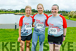 Emma Leahy and Maeve Meehan Grey from Tralee and and Kathleen Sheehan from Tousist at the Tralee Harriers Rose of Tralee 10k in the Tralee Wetlands on Sunday.