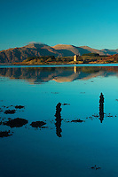 Castle Stalker and Loch Linnhe from Port Appin, Appin, Argyll & Bute