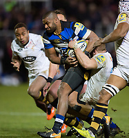 Aled Brew of Bath Rugby takes on the Wasps defence. Aviva Premiership match, between Bath Rugby and Wasps on December 29, 2017 at the Recreation Ground in Bath, England. Photo by: Patrick Khachfe / Onside Images