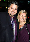 """HOLLYWOOD, CA. - December 03: Writer Rick Najera and wife Susie Najera arrive at the Los Angeles premiere of """"Nothing Like The Holidays"""" at Grauman's Chinese Theater on December 3, 2008 in Hollywood, California."""