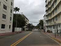 Feeder bands caused by Hurricane Irma in Miami Beach, Fla. on September 9, 2017.