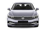 Car photography straight front view of a 2020 Volkswagen Passat Style Business 4 Door Sedan