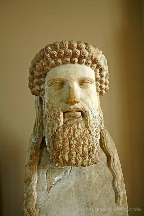 This carved marble bust of Zeus can be found in the Archaeological Museum in Istanbul, Turkey.