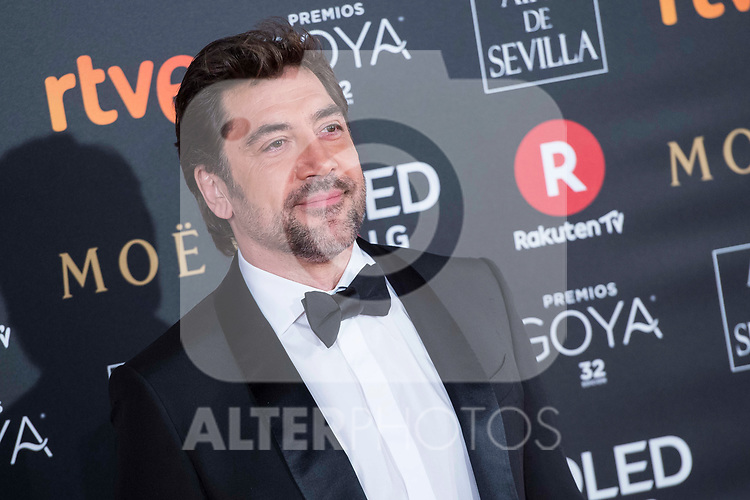 Javier Bardem attends red carpet of Goya Cinema Awards 2018 at Madrid Marriott Auditorium in Madrid , Spain. February 03, 2018. (ALTERPHOTOS/Borja B.Hojas)