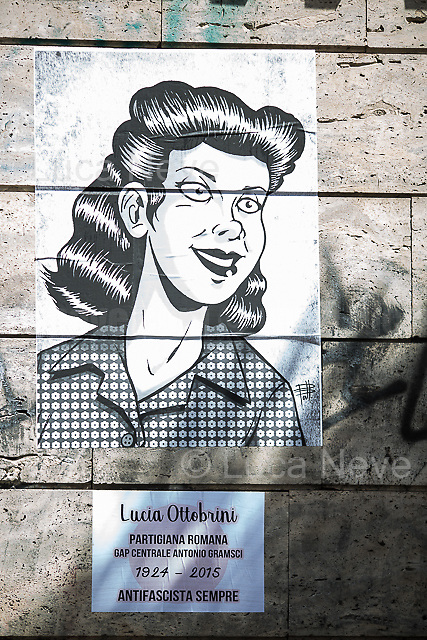 Lucia Ottobrini (Antifascist Partizan. Member of the Partigiani: the Italian Resistance during WWII, Mario Fiorentini's Wife).<br />