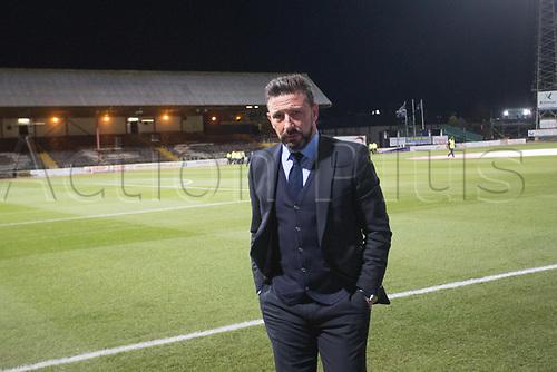 8th December 2017, Dens Park, Dundee, Scotland; Scottish Premier League football, Dundee versus Aberdeen; Aberdeen boss Derek McInnes at Dens Park 24 hours after deciding to stay at Aberdeen rather than move to Rangers