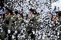 BOGOTA - COLOMBIA - 20 -07 - 2016: Miembros de la Fuerzas Militares de Colombia, desfilan durante la ceremonia con motivo del 206 aniversario del Dia de la Independencia Nacional. / Members of the Military Forces of Colombia, parading during the ceremony to mark the 206 anniversary of the National Independence Day. Photo: VizzorImage / Mauricio Orjuela- Min Defensa? / Cont