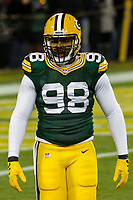 Green Bay Packers linebacker Chris Odom (98) during a National Football League game against the Minnesota Vikings on December 23rd, 2017 at Lambeau Field in Green Bay, Wisconsin. Minnesota defeated Green Bay 16-0. (Brad Krause/Krause Sports Photography)