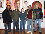 (L-R) Actors Curtis McClarin, Bruce Kronenberg, Amelia Campbell, William Marshall and Roger Waters after a performance in 'The Exonerated' at the Culture Project in New York City. November 27, 2012.