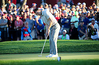 Martin Kaymer (Team Europe) has one chance to take the match to the last during the Saturday Afternoon Four-Balls, at the 41st Ryder Cup 2016, at Hazeltine National Golf Club, Minnesota, USA.  01View of the 10th2016. Picture: David Lloyd | Golffile.