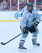 Trevor Mingoia (PC - 9) -  - The participating teams in Hockey East's first doubleheader during Frozen Fenway practiced on January 3, 2014 at Fenway Park in Boston, Massachusetts.