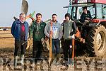 Clashmealcon, Causeway Ploughing Match at Houlihan's farm on Sunday Pictured were l-r  John Sheehan, Causeway, Cormac O'Connor, Causeway, Daniel O'Connor, Causeway, Donal O'Neill, Causeway and Sean Kearney, Causeway