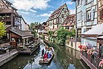 """View of the """"Petite Venise"""" section of Colmar, a beautiful Alsatian city"""