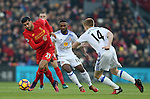 Emre Can of Liverpool gets past Jermain Defoe of Sunderland during the Premier League match at the Anfield Stadium, Liverpool. Picture date: November 26th, 2016. Pic Simon Bellis/Sportimage