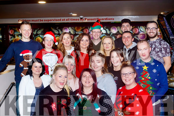 Staff from Kellihers Mace shop, Rathass, Tralee had their Christmas party in Bowling Buddies, Manor, last Saturday night December 16th.