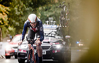 eventual bronze medalist Brandon Mcnulty (USA)<br /> Men U23 Individual Time Trial<br /> <br /> 2019 Road World Championships Yorkshire (GBR)<br /> <br /> ©kramon