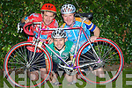 v....FUNDS: Richard Pierse,Aidan Blackwell and Johnny Kelly who will take Munster by storm as they plan to cycle Munster to raise funds for Down Syndrome Ireland in Traning on Thursday night.... ..