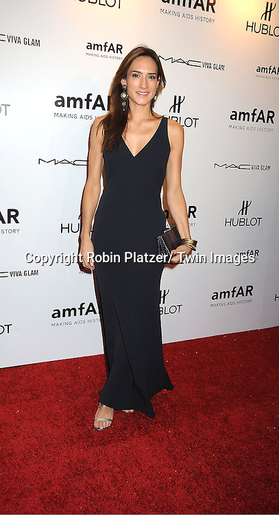 Zani Gugelmann arrives at the amfAR New York Gala to kick off Fashion Week on February 8, 2012 at Cipriani Wall Street in New York City.
