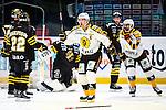 Stockholm 2013-12-07 Ishockey Elitserien AIK - Skellefte&aring; AIK :  <br /> Skellefte&aring;s Jimmie Ericsson jublar efter att Skellefte&aring;s Joakim Lindstr&ouml;m gjort 1-0<br /> (Foto: Kenta J&ouml;nsson) Nyckelord:  AIK Skellefte&aring; SAIK jubel gl&auml;dje lycka glad happy