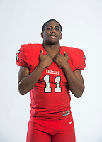 NWA Democrat-Gazette/BEN GOFF @NWABENGOFF<br /> Anthony Travis of Fort Smith Northside, division I football defensive player of the year, poses for a photo Tuesday, Dec. 11, 2018, at the Northwest Arkansas Democrat-Gazette studio in Springdale.