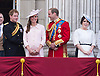 PRINCE HARRY, KATE, PRINCE WILLIAM AND PRINCESS EUGENIE<br /> appear on the balcony of Buckingham Palace to watch the Royal Air Force Flypast as part of the Trooping of the Colour, London_15th June 2013<br /> The annual event marks the Queen's Official Birthday.<br /> Photo Credit: &copy;Dias/NEWSPIX INTERNATIONAL<br /> <br /> **ALL FEES PAYABLE TO: &quot;NEWSPIX INTERNATIONAL&quot;**<br /> <br /> PHOTO CREDIT MANDATORY!!: NEWSPIX INTERNATIONAL<br /> <br /> IMMEDIATE CONFIRMATION OF USAGE REQUIRED:<br /> Newspix International, 31 Chinnery Hill, Bishop's Stortford, ENGLAND CM23 3PS<br /> Tel:+441279 324672  ; Fax: +441279656877<br /> Mobile:  0777568 1153<br /> e-mail: info@newspixinternational.co.uk