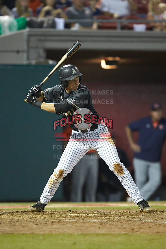 John McKenna (21) of the Army Black Knights at bat against the Auburn Tigers at Doak Field at Dail Park on June 2, 2018 in Raleigh, North Carolina. The Tigers defeated the Black Knights 12-1. (Brian Westerholt/Four Seam Images)