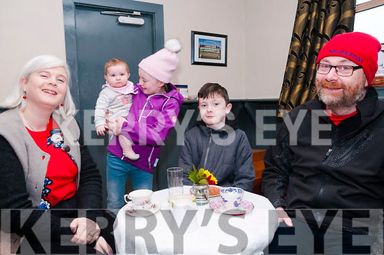 Valentine's Coffee Morning: Attending the Valentine's Coffee morniing in aid  of the North Kerr branch of the MS Society held at Tomasin's Bar, Liselton on Saturday morniing last were Marian Gil;bert, Mollie Hegarty & Ellen Gilbert & Joseph & Mike Gilbert.