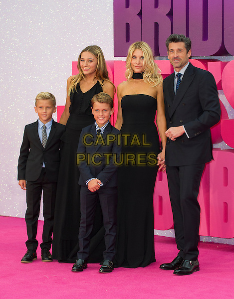 LONDON, ENGLAND - SEPTEMBER 05: Jillian Fink, Patrick Dempsey &amp; Family arrive for the world premiere of 'Bridget Jones's Baby' at Odeon Leicester Square on September 5, 2016 in London, England. <br /> CAP/PP/GM<br /> &copy;GM/PP/Capital Pictures