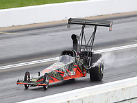 May 20, 2017; Topeka, KS, USA; NHRA top alcohol dragster driver David Brounkowski during qualifying for the Heartland Nationals at Heartland Park Topeka. Mandatory Credit: Mark J. Rebilas-USA TODAY Sports