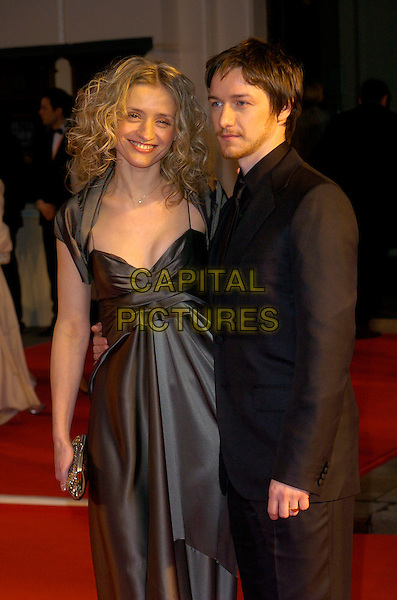 ANNE MARIE-DUFF & JAMES McAVOY.Red Carpet Arrivals at The Orange British Academy Film Awards (BAFTA's) held at the Royal Opera House, Covent Garden, London, England, February 11th 2007. .half length grey dress anne marie.CAP/CAN.©Can Nguyen/Capital Pictures