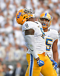 STATE COLLEGE, PA, SEPT 9: The Pitt football team travels to take on Penn State at Beaver Stadium in State College, Pennsylvania on September 9, 2017. <br /> Photographer: Pete Madia/Pitt Athletics