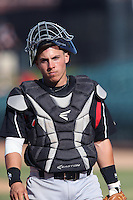 Jeremy Rodriguez #3 of the Lake Elsinore Storm during a game against the Lancaster JetHawks at The Hanger on April 6, 2014 in Lancaster, California. Lancaster defeated Lake Elsinore, 7-4. (Larry Goren/Four Seam Images)
