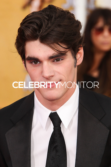 LOS ANGELES, CA - JANUARY 18: RJ Mitte at the 20th Annual Screen Actors Guild Awards held at The Shrine Auditorium on January 18, 2014 in Los Angeles, California. (Photo by Xavier Collin/Celebrity Monitor)
