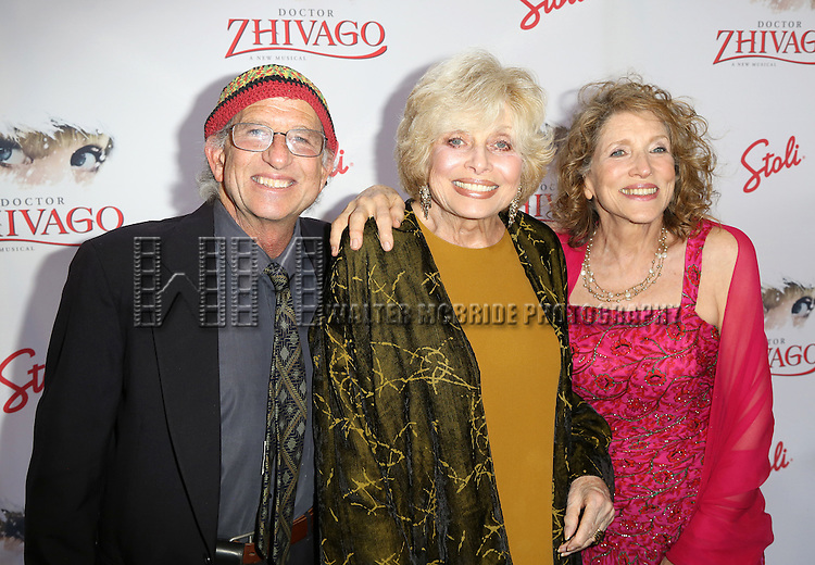 Peter Simon, Joanna Simon and Lucy Simon attend the Broadway Opening Night Performance of  'Doctor Zhivago'  at  The Broadway Theatre on April 21, 2015 in New York City.