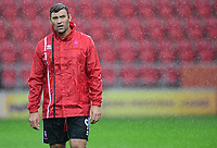 Lincoln City's Matt Rhead during the pre-match warm-up <br /> <br /> Photographer Chris Vaughan/CameraSport<br /> <br /> The Carabao Cup First Round - Rotherham United v Lincoln City - Tuesday 8th August 2017 - New York Stadium - Rotherham<br />  <br /> World Copyright &copy; 2017 CameraSport. All rights reserved. 43 Linden Ave. Countesthorpe. Leicester. England. LE8 5PG - Tel: +44 (0) 116 277 4147 - admin@camerasport.com - www.camerasport.com