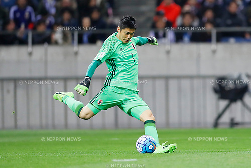 Eiji Kawashima (JPN), <br /> MARCH 28, 2017 - Football / Soccer : <br /> FIFA World Cup Russia 2018 Asian Qualifier <br /> Final Round Group B <br /> between Japan 4-0 Thailand <br /> at Saitama Stadium 2002, Saitama, Japan. <br /> (Photo by Yohei Osada/AFLO)