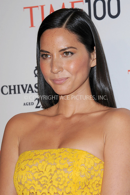 WWW.ACEPIXS.COM . . . . . .April 23, 2013...New York City....Olivia Munn attends TIME 100 Gala, TIME'S 100 Most Influential People In The World at Jazz at Lincoln Center on April 23, 2013 in New York City ....Please byline: KRISTIN CALLAHAN - ACEPIXS.COM.. . . . . . ..Ace Pictures, Inc: ..tel: (212) 243 8787 or (646) 769 0430..e-mail: info@acepixs.com..web: http://www.acepixs.com .