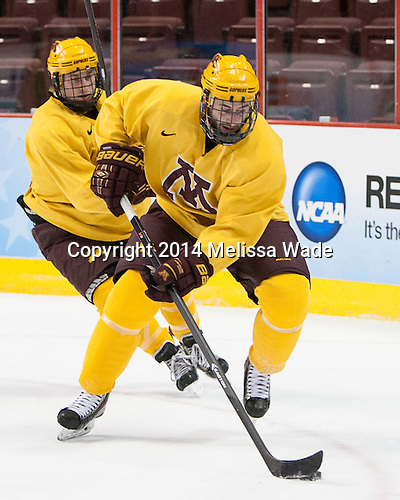 - The University of Minnesota Golden Gophers practiced on Wednesday, April 9, 2014, at the Wells Fargo Center in Philadelphia, Pennsylvania during the 2014 Frozen Four.