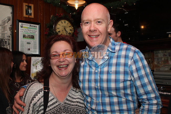 Oliveann Cassidy and David O'Reilly in McPhails on Christmas Eve...Photo NEWSFILE/Jenny Matthews..(Photo credit should read Jenny Matthews/NEWSFILE)