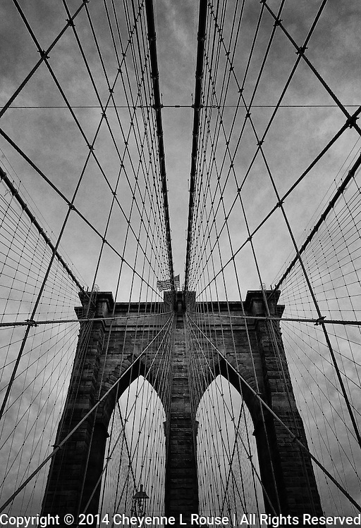 Brooklyn Bridge - New York City - B&W