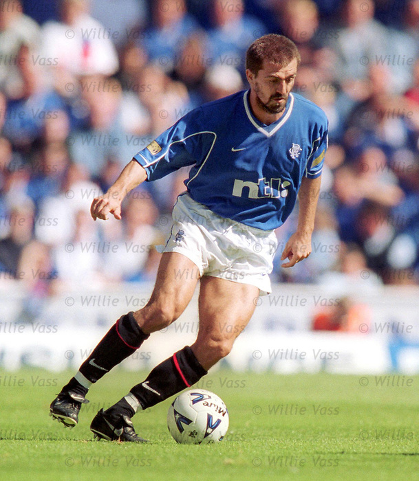 Sergio Porrini in action for Rangers