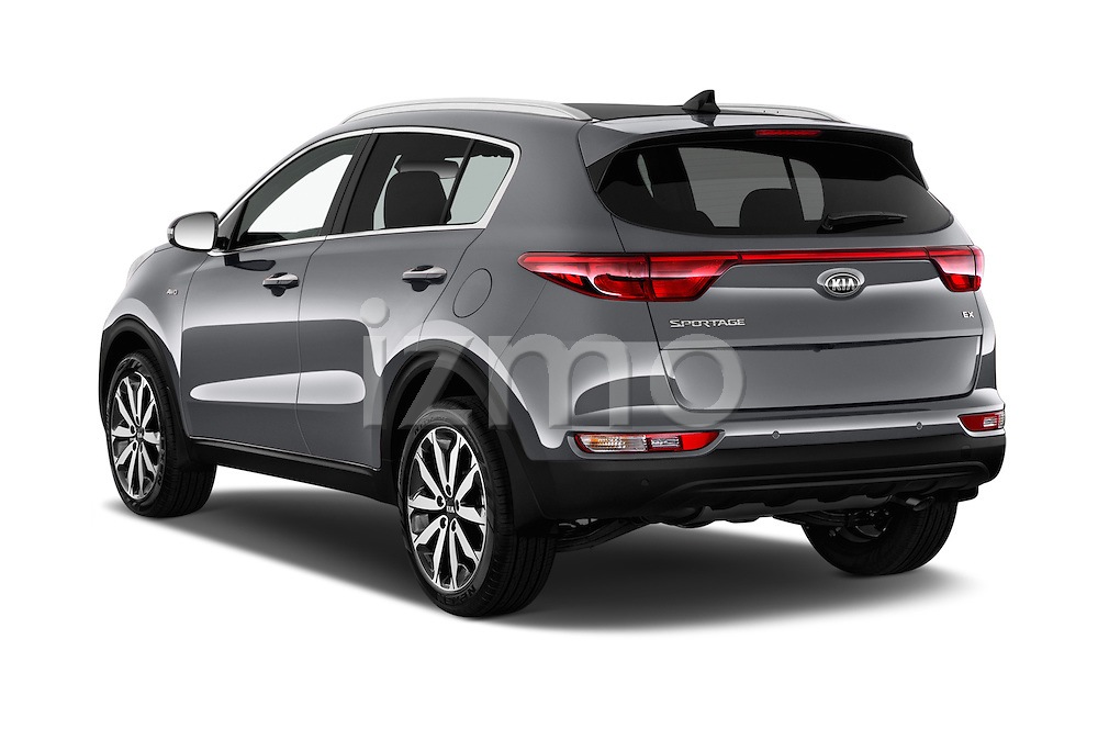 Car pictures of rear three quarter view of 2017 KIA Sportage 2.4-EX-AT-AWD 5 Door SUV Angular Rear