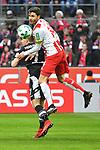 14.01.2018, RheinEnergieStadion, Koeln, GER, 1.FBL., 1. FC K&ouml;ln vs. Borussia M&ouml;nchengladbach<br /> <br /> im Bild / picture shows: <br /> Kopfballduell zwischen  Jonas Hector (FC K&ouml;ln #14),  Patrick Herrmann (Gladbach #7),   <br /> <br /> <br /> Foto &copy; nordphoto / Meuter