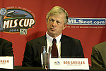 12 November 2004: Kansas City Wizards head coach Bob Gansler. Major League Soccer held their annual pre-MLS Cup press conference at the Home Depot Center in Carson, CA two days before the Kansas City Wizards were scheduled to play DC United in the league's annual championship game..