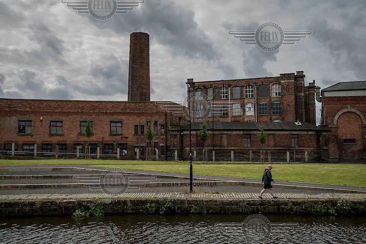 Wigan Pier, made infamous in George Orwell's 1937 book 'The Road to Wigan Pier' which highlighted poverty in the industrial north of England.