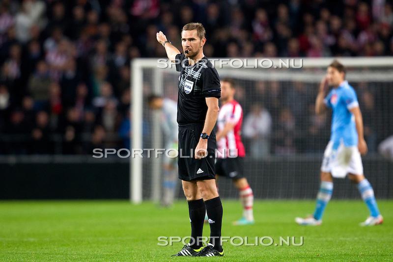 Nederland, Amsterdam, 4 oktober  2012.Seizoen 2012-2013.EuropaLeague.PSV-Napoli.Scheidsrechter Alexandru Dan Tudor van de UEFA